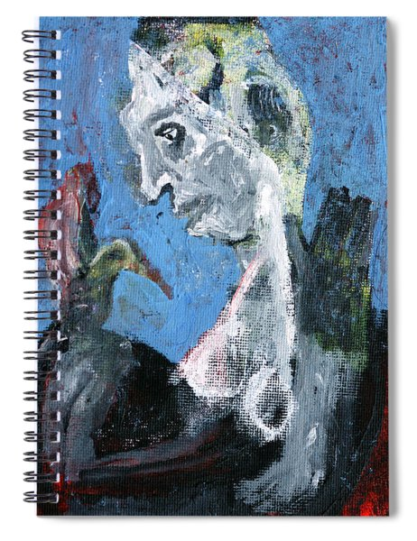 Portrait With A Bird Spiral Notebook