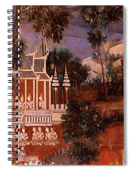 Ramayana Murals In A Palace, Royal Spiral Notebook