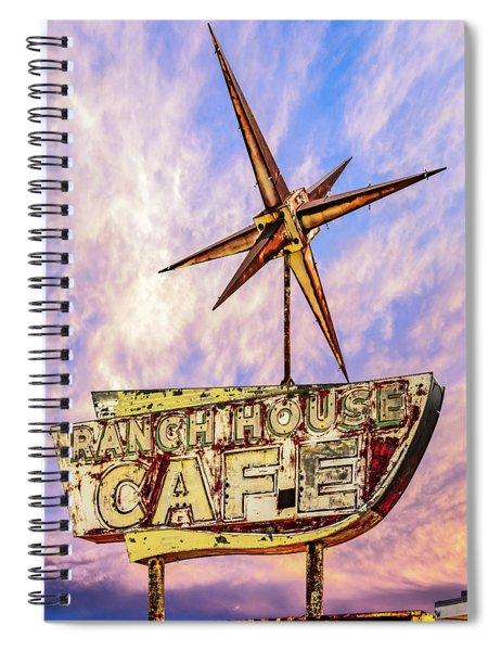 Ranch House Cafe Spiral Notebook by Lou Novick
