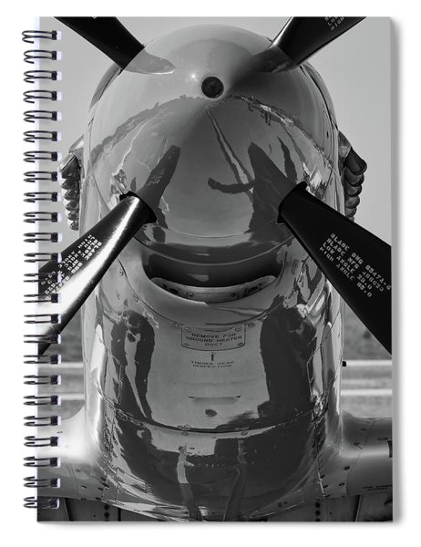 Red Nose In Black And White Spiral Notebook