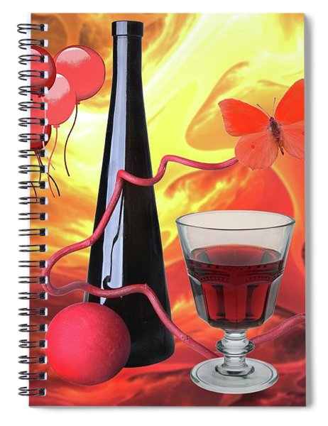 Red Wine 7 Spiral Notebook