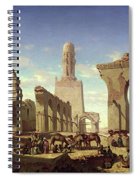 Ruins Of The Mosque Of The Caliph El Haken In Cairo Spiral Notebook