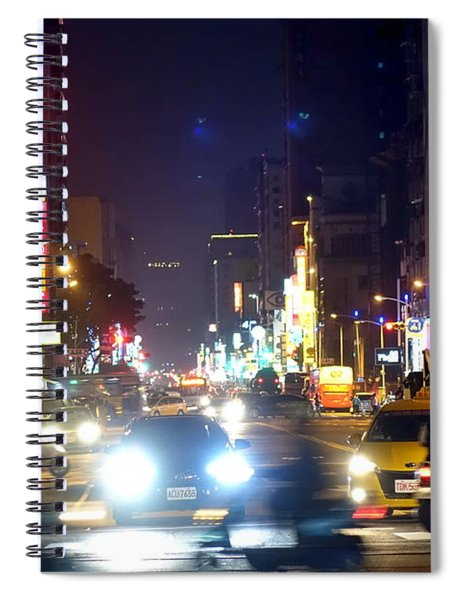 Rush Hour Traffic In Downtown Spiral Notebook