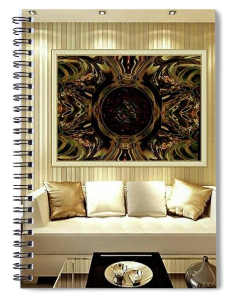Soul Smoother Gold Spiral Notebook
