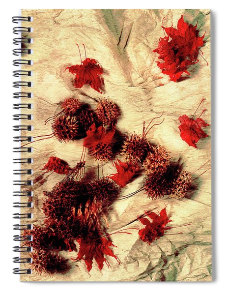 Spiked Nuts Red Spiral Notebook