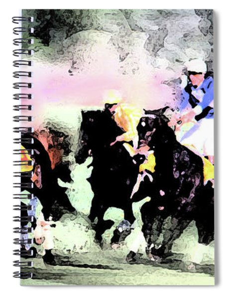 Steeple Chase Colors Spiral Notebook