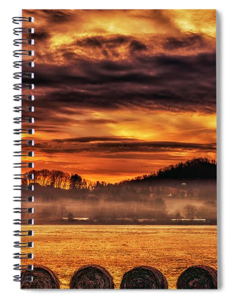 Sunrise On The Farm Spiral Notebook