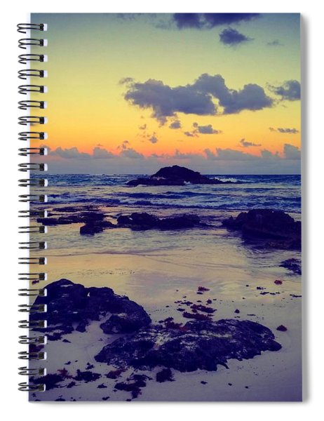 Sunset In Tulum, Mexico Spiral Notebook
