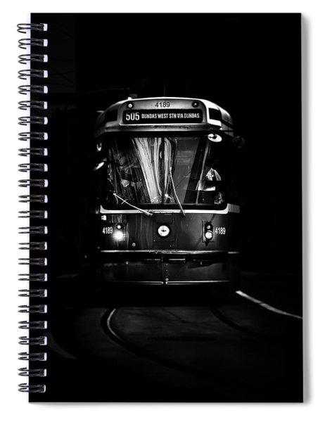 The 505 Dundas Streetcar Toronto Canada Spiral Notebook