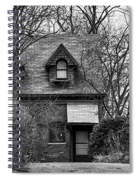 The Carriage House In Black And White Spiral Notebook