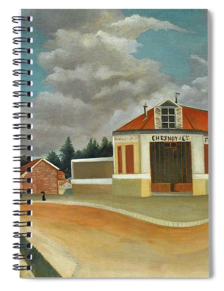 The Chair Factory At Alfortville Spiral Notebook