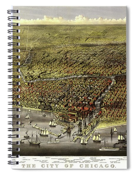 The City Of Chicago, 1868 Spiral Notebook