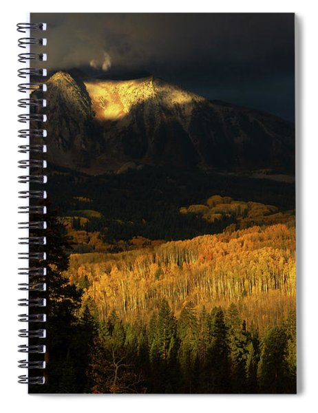 Spiral Notebook featuring the photograph The Golden Light by John De Bord