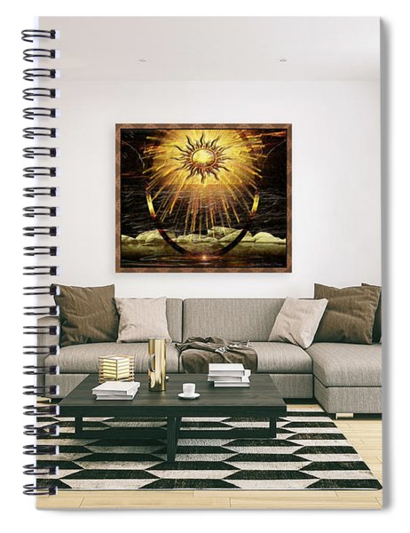 The Golden Ring By The Shore  Spiral Notebook