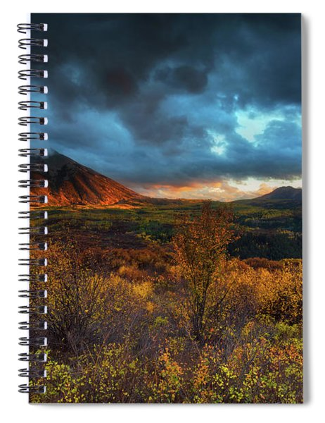 Spiral Notebook featuring the photograph The Last Light by John De Bord
