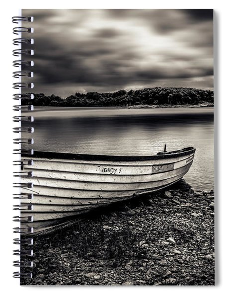The Lone Boat Spiral Notebook