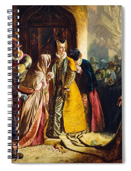 The Return Of Mary Queen Of Scots To Edinburgh Spiral Notebook
