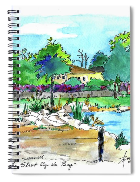 The Street By The Bay  Spiral Notebook