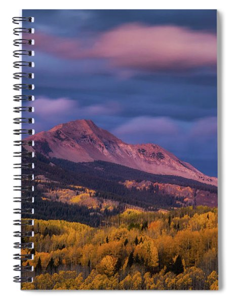 The Whisper Of Clouds Spiral Notebook by John De Bord