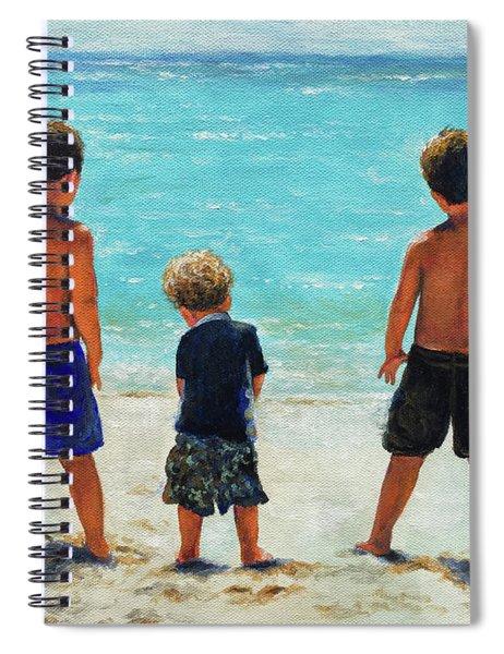 Three Beach Boys Aqua Sea Spiral Notebook