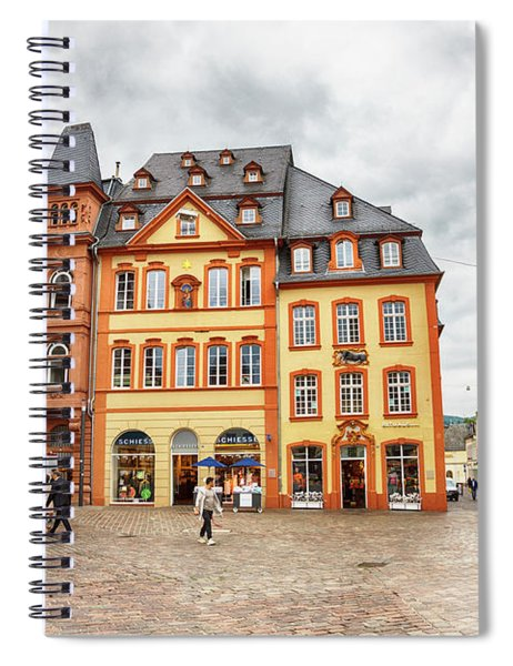Trier, Germany,  People By Market Day Spiral Notebook