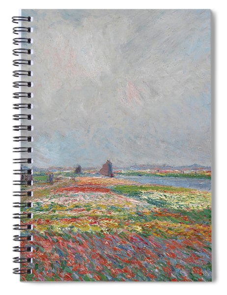 Tulip Fields Near The Hague Spiral Notebook