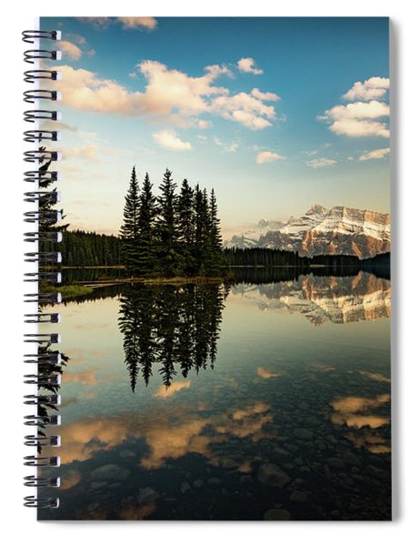 Two Jack Lake And Mount Rundle Spiral Notebook