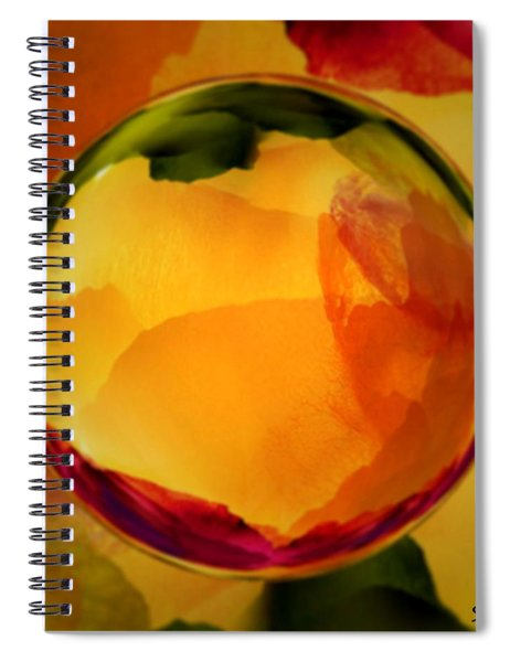 Watercolor Glass Marble  Spiral Notebook