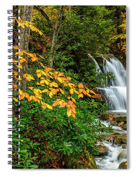 Waterfall And Fall Color Spiral Notebook