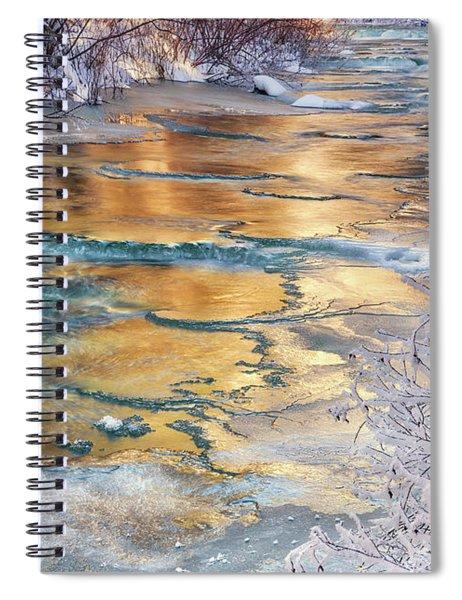 Winter Azure And Gold Spiral Notebook