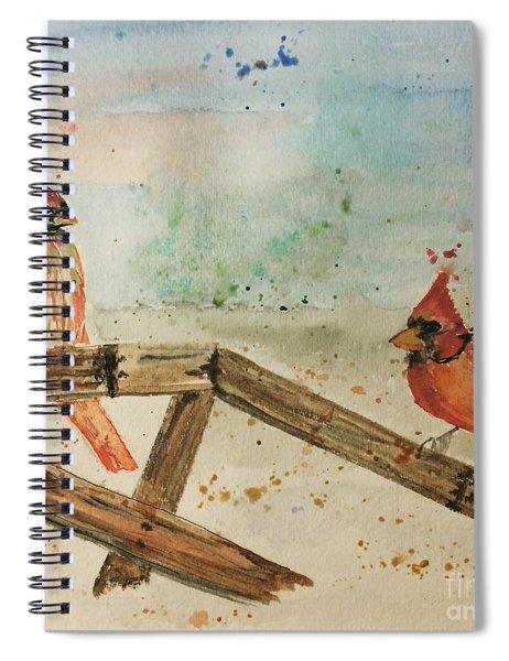 Winter Cardinals Spiral Notebook
