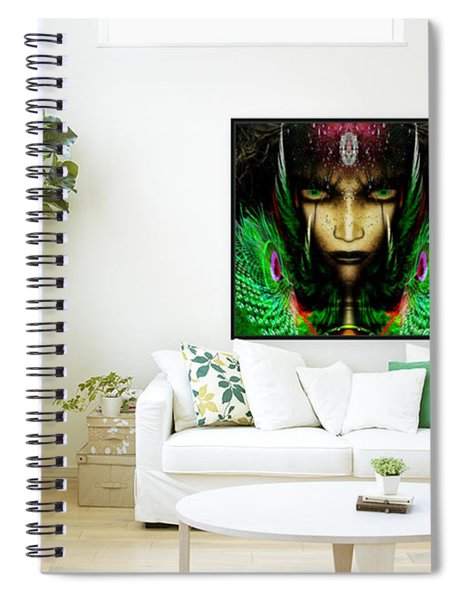 Zyneste Nadale The Warrior Princess  Spiral Notebook