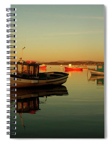 10/11/13 Morecambe. Boats On The Bay. Spiral Notebook