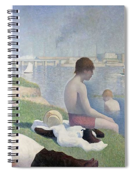 Bathers At Asnieres Spiral Notebook