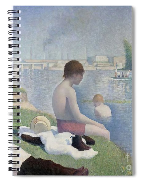 Bathers At Asnieres Spiral Notebook
