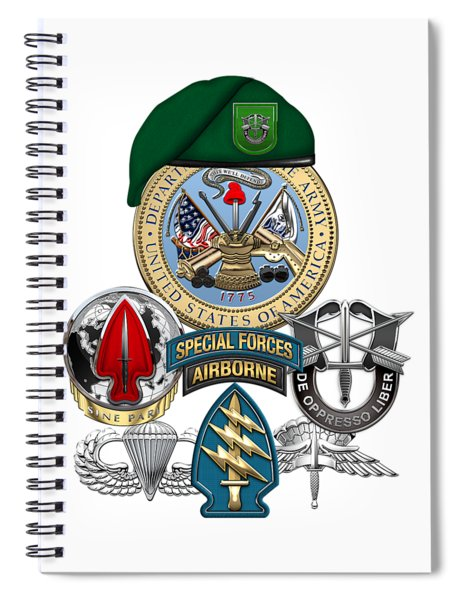 10th Special Forces Group - Green Berets Special Edition Spiral Notebook