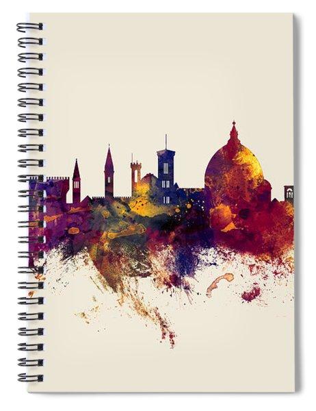 Florence Italy Skyline Spiral Notebook