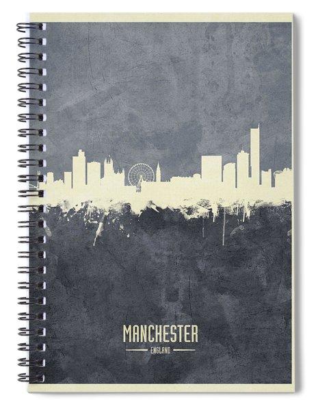 Manchester England Skyline Spiral Notebook
