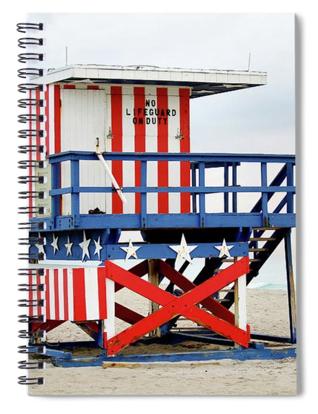 13th Street Lifeguard Tower - Miami Beach Spiral Notebook