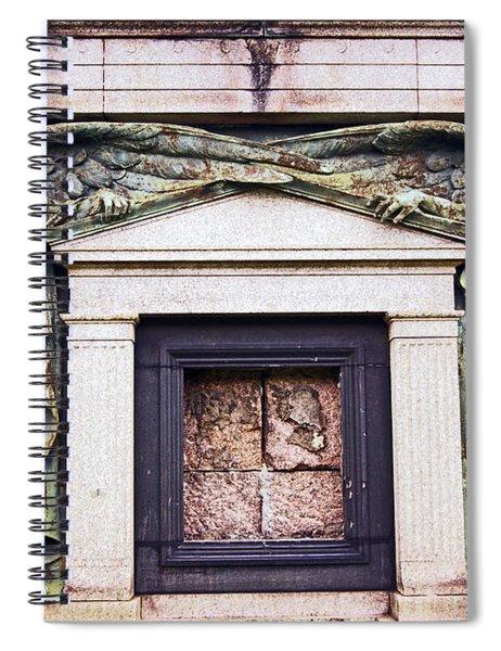 18/09/13 Glasgow. The Necropolis, Double Angels. Spiral Notebook
