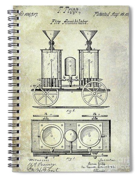 1870 Fire Truck Patent Spiral Notebook