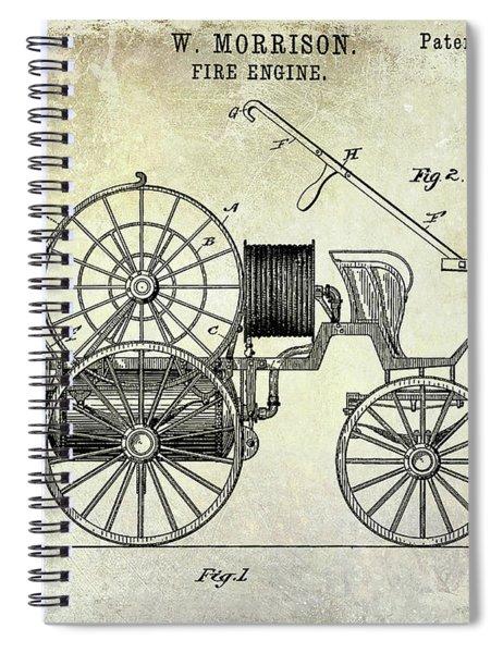 1889 Fire Engine Patent Spiral Notebook