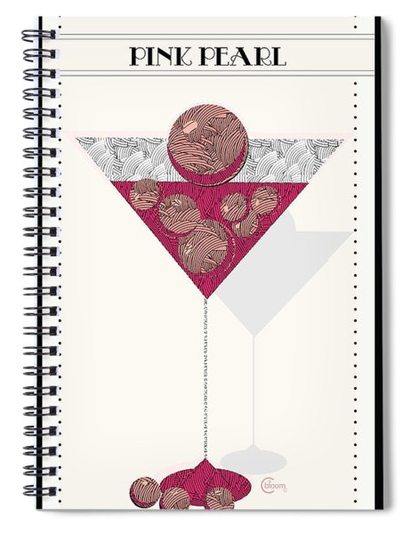 Pink Pearl Cocktail Art Deco Swing   Spiral Notebook