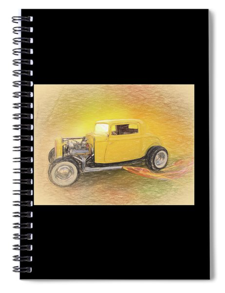 1932 Ford Coupe Yellow Spiral Notebook