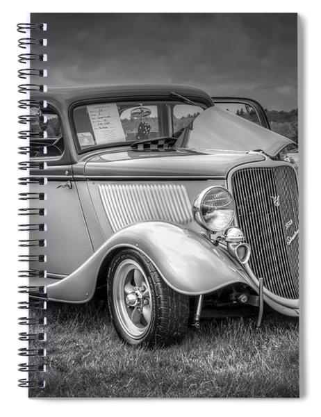 1933 Ford Tudor Sedan With Trailer Spiral Notebook