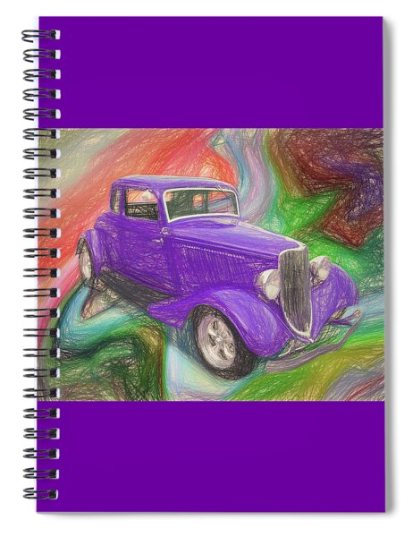 1934 Ford Colored Pencil Spiral Notebook