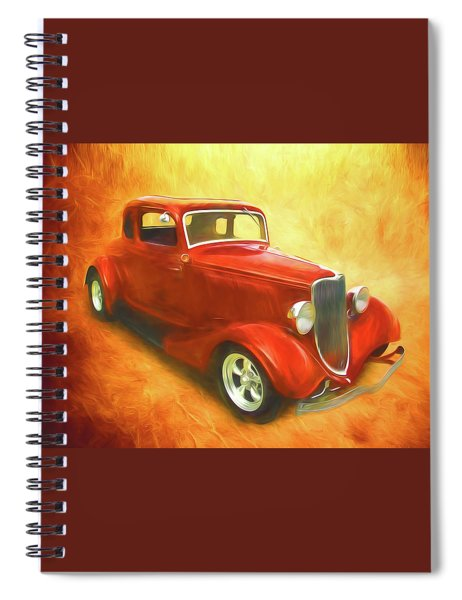 1934 Ford On Fire Spiral Notebook