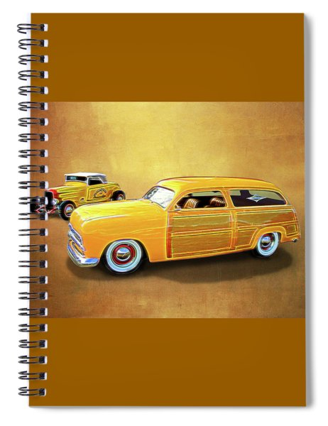 1949 Woody And 1932 Roadster Spiral Notebook