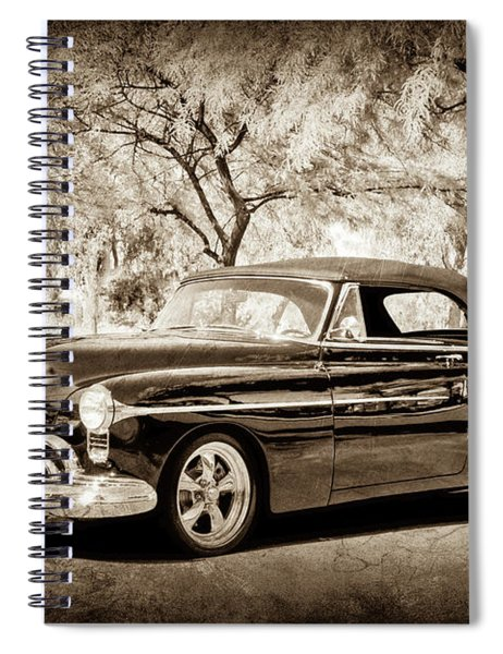 Spiral Notebook featuring the photograph 1950 Oldsmobile 88 -004s by Jill Reger