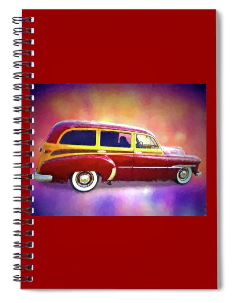 1951 Chevy Woody Sideview Spiral Notebook